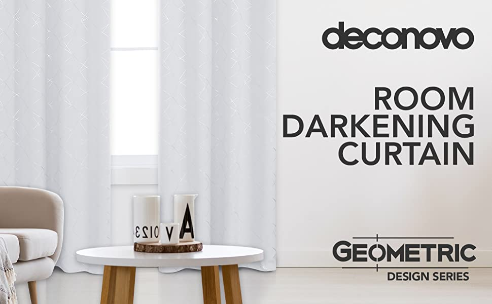 Geometric Print Blackout Curtains