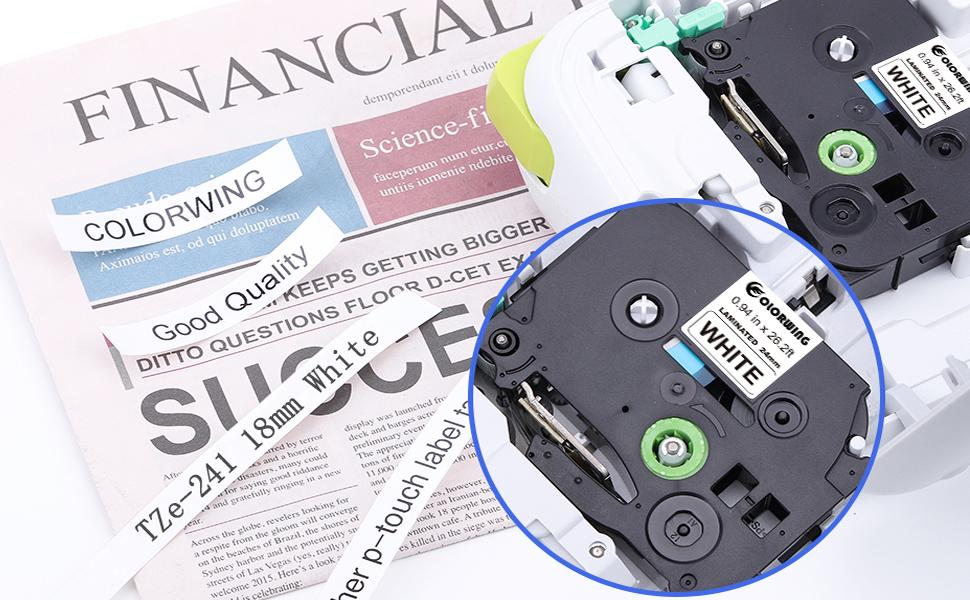 7600 VP 9200 DX vhbw/® Label Tape Kassette Patronen Schriftband 18mm passend f/ür Brother TZ-241 TZE-241 7500 VP 9700 PC 9800 PCN 9200 PC 9500 PC