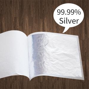 "4.33/"", 10 Sheets, Loose DIY Brownie KINNO Metal Leaf Sheets Multipurpose for Cookies Gilding Cake /& Chocolate Genuine Edible Silver Leaf Sheets Arts/&Crafts"