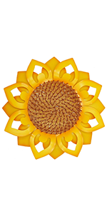 "Juegoal 12.6"" Large Metal Sunflower Wall Art"