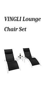 lounge chair set