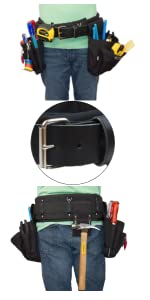 Boulder Bag Electrician Comfort Combo 104 Leather-tipped Metal Buckle