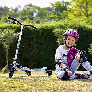Gijoki Baby Scooter Mute Wheel Children Balance Push Sliding Bike Kick Scooters