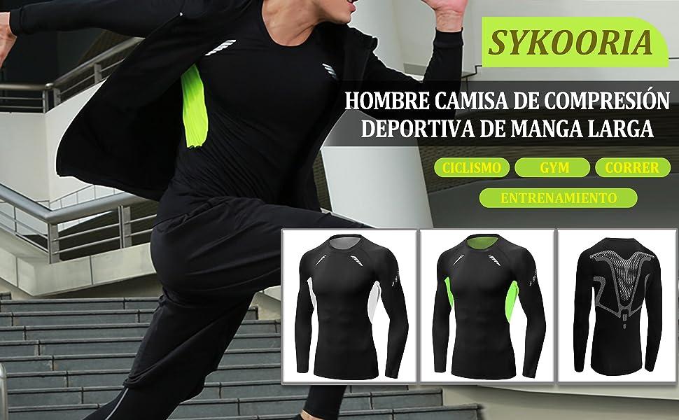 Camiseta de Compresión Deportiva para Hombre