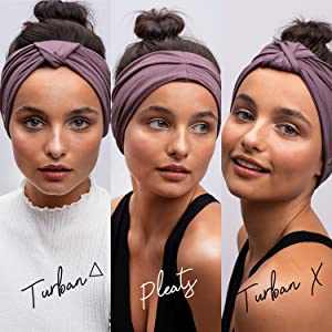 It's one headband with many ways to wear.