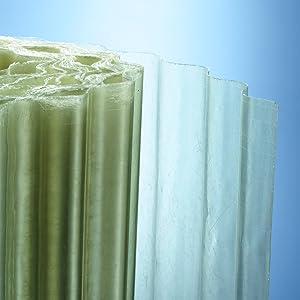 gewellt BxL 1mm stark natur-transparent 76//18 Wellbahn 3000mmx2500mm Lichtbahn aus Polyester ca