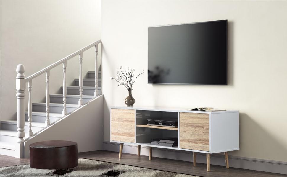 tv console mid century modern