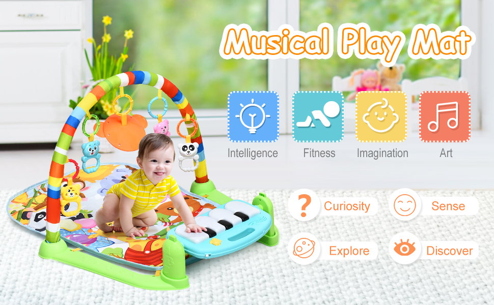 Baby Play Mat Explore Activity Musical Gym