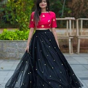 black color lehengha choli