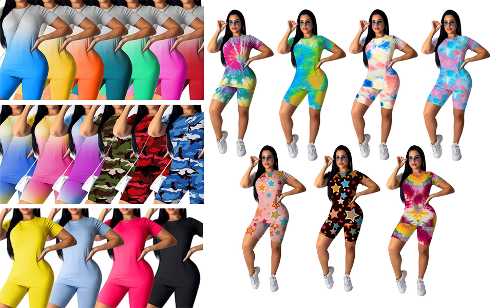 Women's 2 Piecese Outfits Shorts Sets