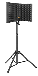 Flashandfocus.com 0bc627e3-9aaf-4b60-ab5b-49163ae84e99.__CR375,0,750,1500_PT0_SX150_V1___ Aokeo Professional Studio Recording Microphone Isolation Shield, Pop Filter.High density absorbent foam is used to…