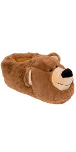 bear face slippers