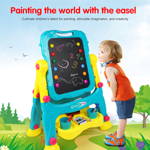 4 - Tomons Art Easel For Kids, Double-Sided Magnetic Dry Erase Board And Chalk Board Adjustable Standing Kids Easel For Toddlers Boys And Girls