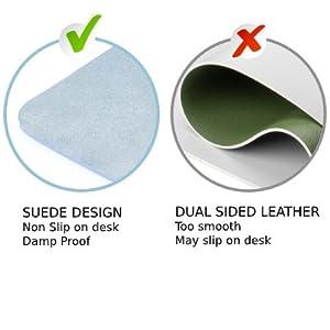 suede design at back leather desk pad single side use vs double side non slip nonslip