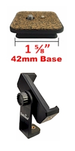 42mm quick release plate phone tripod mount