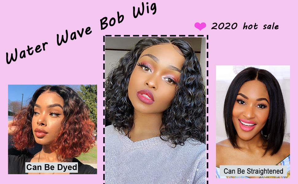 wet and wavy bob wig