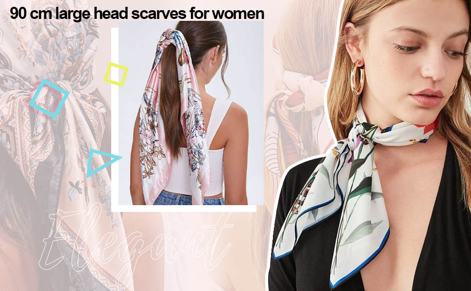 90CM large head scarf for women(pack of 4)