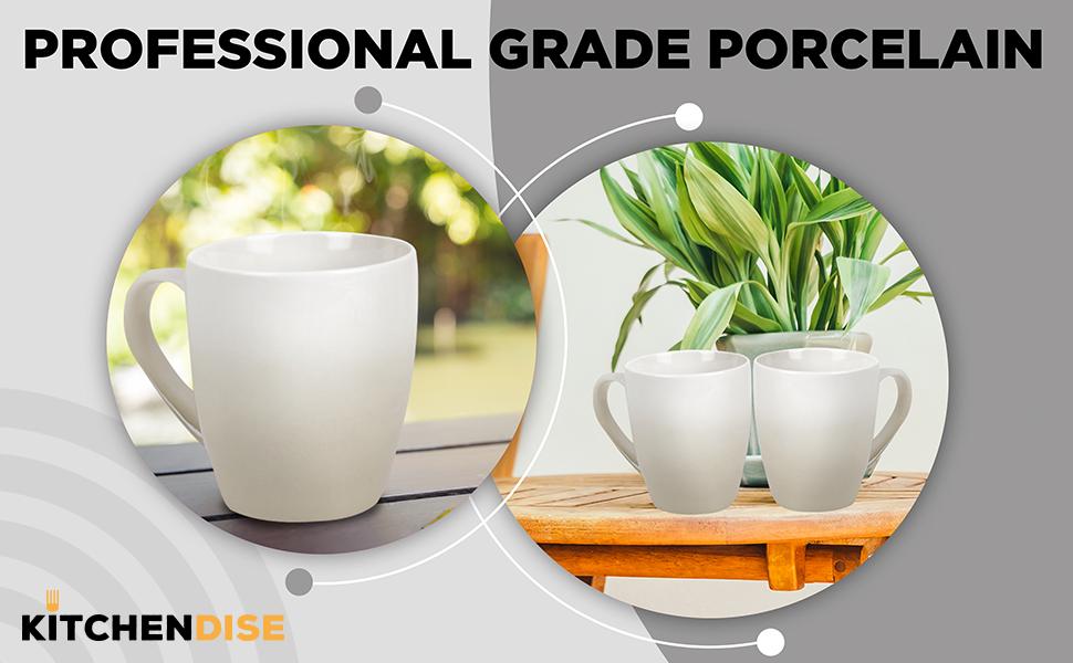 professional grade porcelain mugs