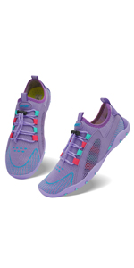 purple water shoes