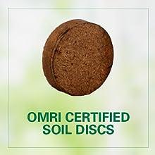 OMRI certified soil discs