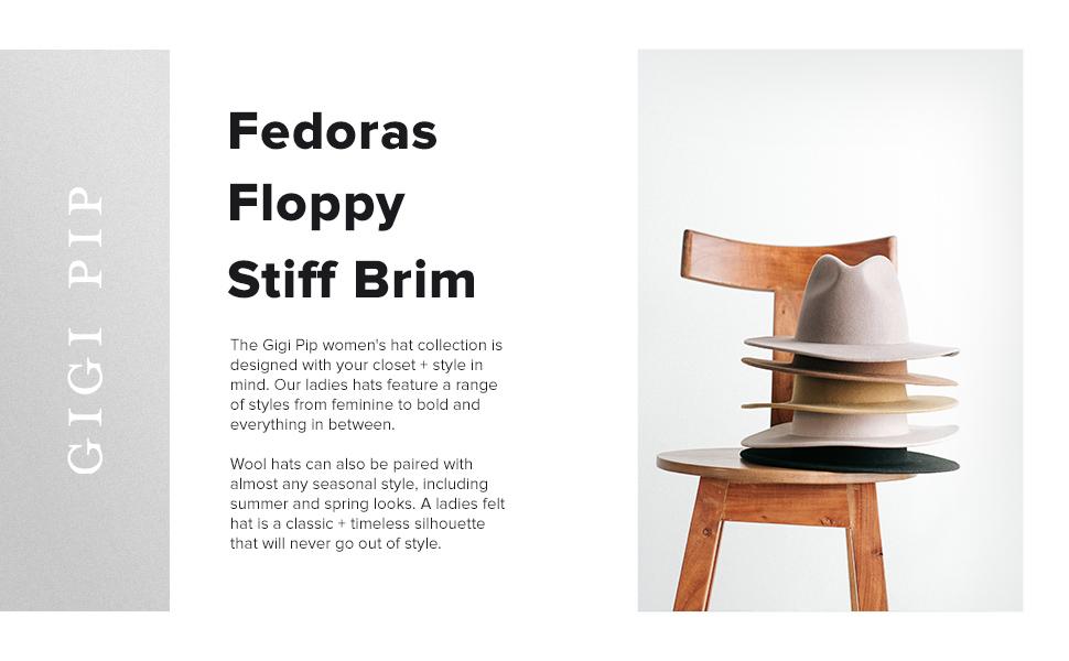 Fedoras floppy stiff brim