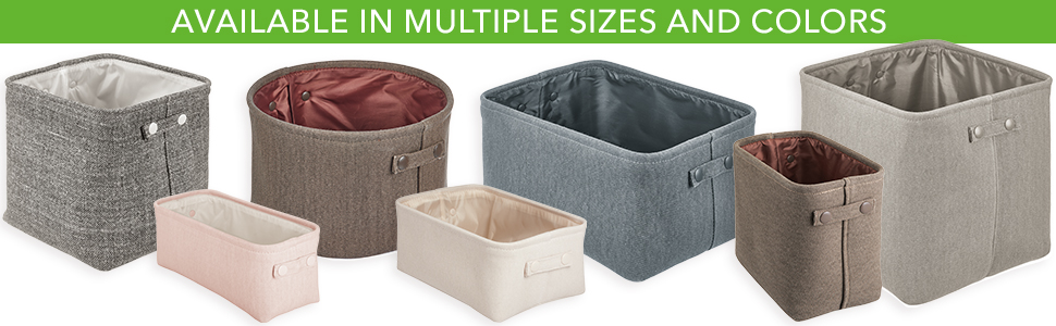 available in multiple sizes and colors square round rectangular cube cubby