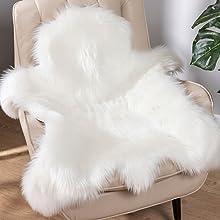 Soft Fur Rugs Fake Reindeer Hide Area Rug Fluffy