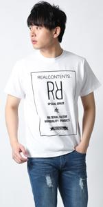 (リアルコンテンツ)REAL CONTENTS tシャツ メンズ おおきいサイズ RR スクエアロゴ プリント ブランドtシャツ rcst1231-20