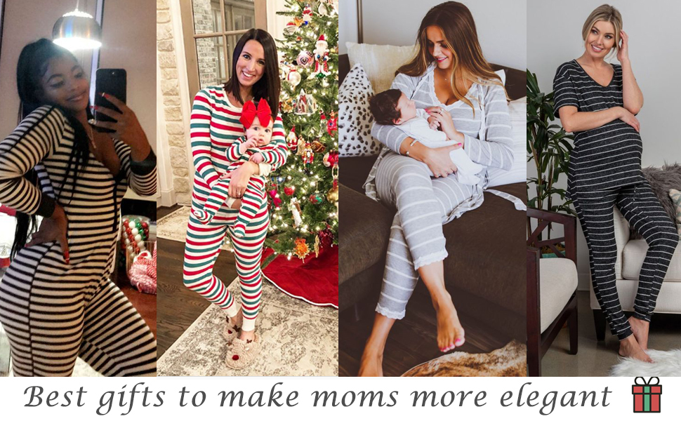 maternity long sleeve pajamas set