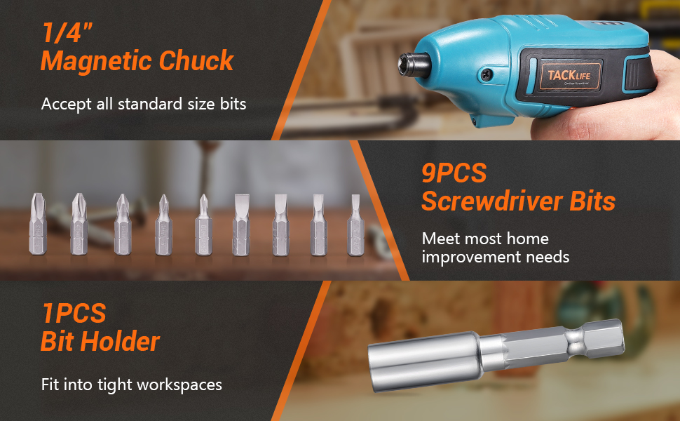 electric screwdriver with accessories