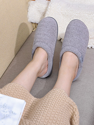 LongBay Women's Comfy Slip On Slippers with Cozy Chenille Upper and Indoor Outdoor Sole_