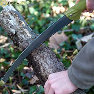 GoSaw Manual Pole Saw - Use by Hand to cut up branch or log DocaPole extension pole docazoo
