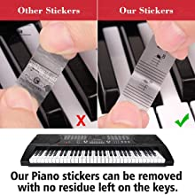 Removable Piano Stickers