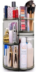 360 makeup organizer gray