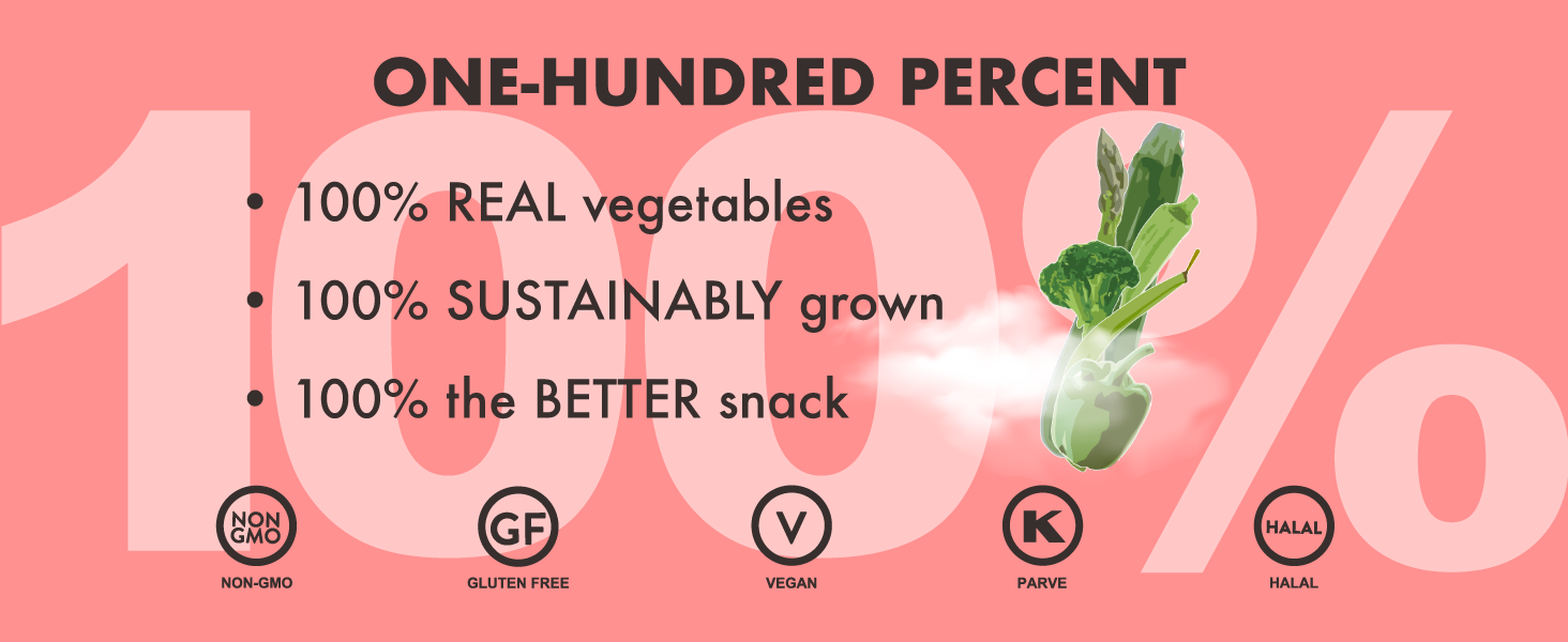 real vegetables sustainable better snack
