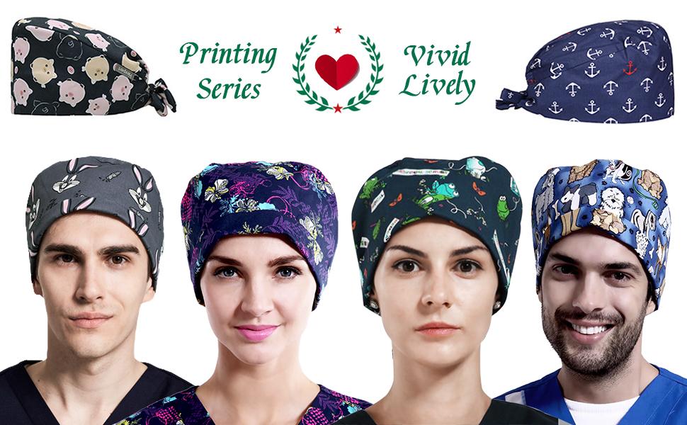 Printing series bouffant hats