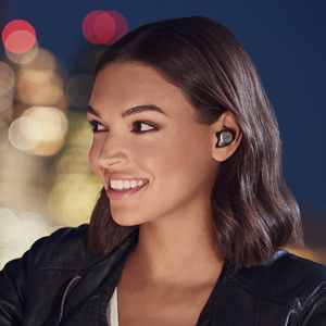 true wireless music, calls and sport, and features secure earbuds for in-ear stability