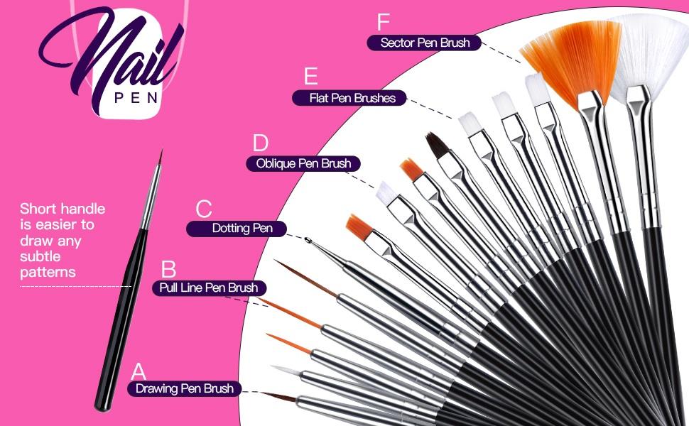 nail brush for nail art