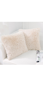 Beige throw pillow covers 18*18