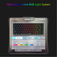 Docooler AK33 Teclado Mecánico Gaming RGB,E-Sport Teclado 82 Teclas USB Wired,100% Anti-Ghosting para PC y Laptop(Interruptor Negro)