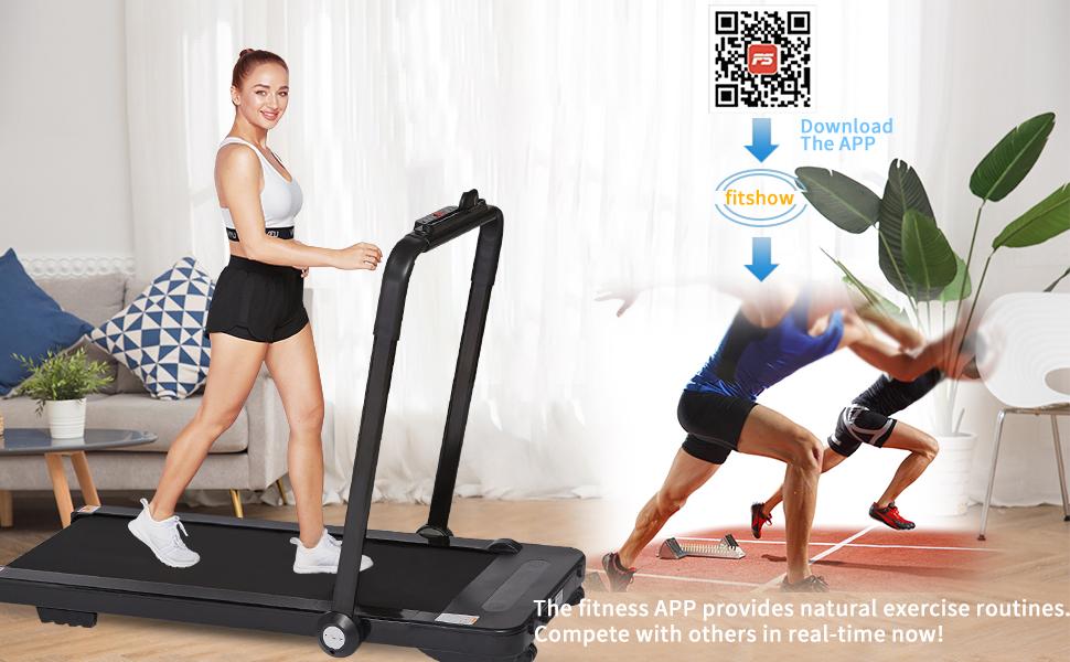 folidng treadmill under desk