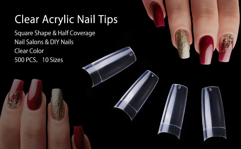 Clear Nail Tips Acrylic Nails
