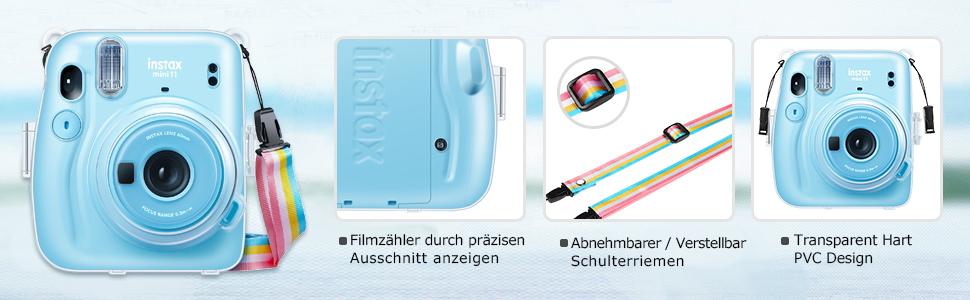 Transparante harde PVC beschermhoes voor Fujifilm Instax Mini 11
