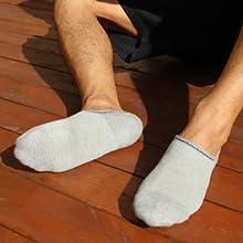 Calcetines de corte bajo para hombre antideslizantes dise/ño oculto 5//10 pares