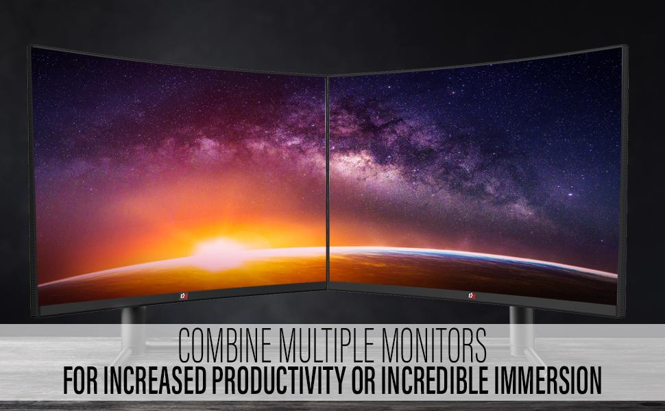 deco gear multiple monitors 2 3 pack