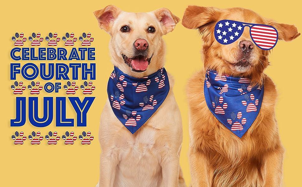 4th of july dog bandana fourth summer bandanas for large medium small sized dogs scarf handkerchief