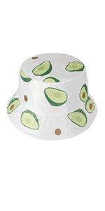 Cappello a secchiello avocado