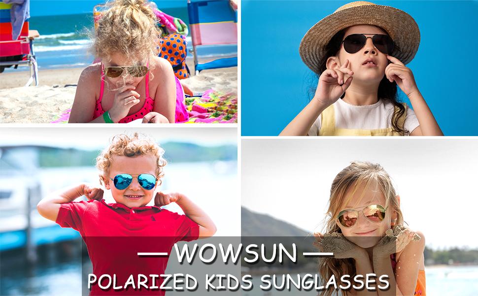 Kids Polarized Sunglasses for Boys Girls Aviator Sunglasses childrens sunglasses UV protection