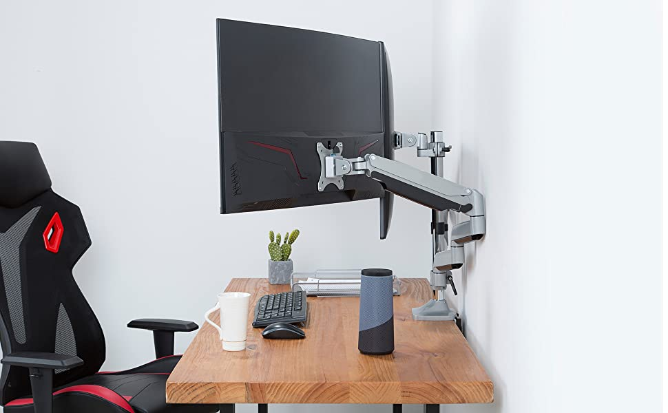 of your desk are occupied by the c-clamp and grommet base, which means more rooms for you to work.