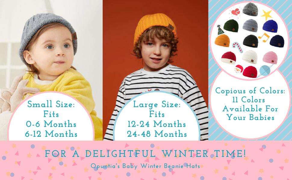 Super Warm Baby Hats Boys Girls 0-6 Months 6-12 Months 12-24 Months 24-48 Months